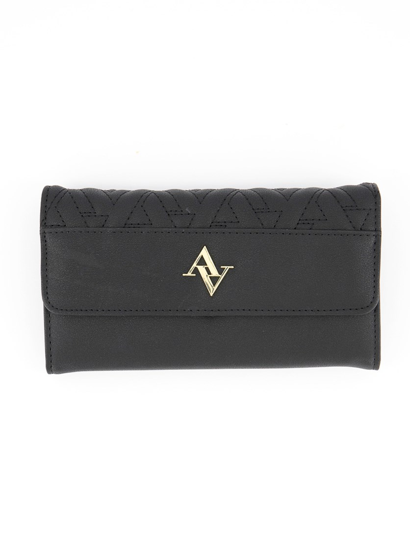 Fold Out Legacy Quilted Wallet, Black