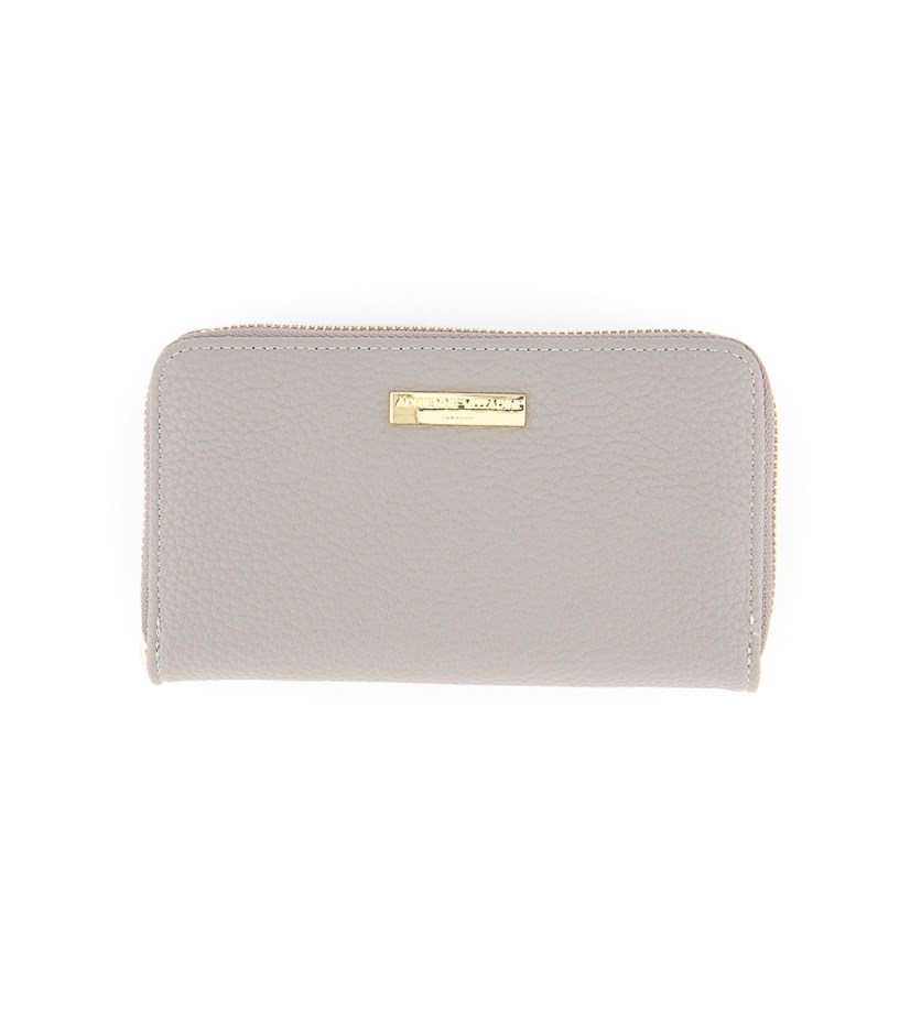 Zip Around with Back Card Wallet, Slate Grey Pebble