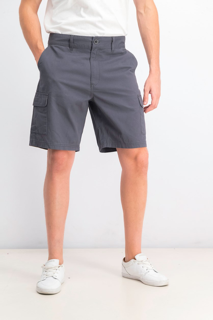 Men's Six Pocket Cargo Short, Dark Grey