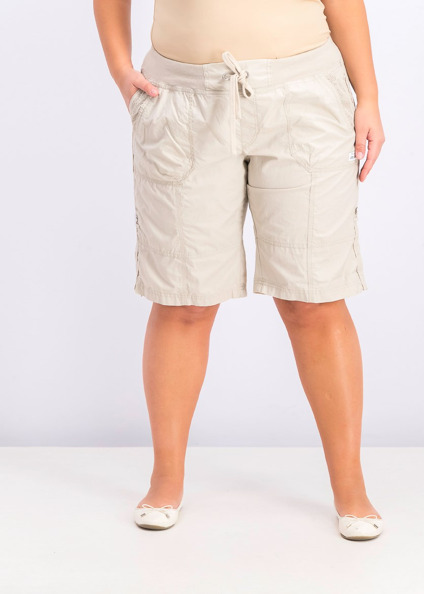 Women's Convertible Cargo Shorts, Sand