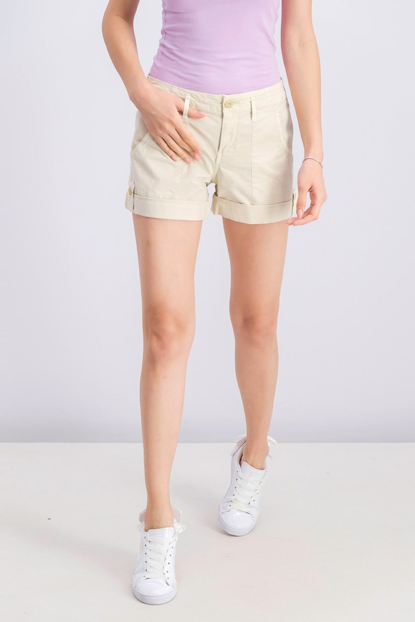 Women's Explorer Patch Pocket Short, Washed Pebble