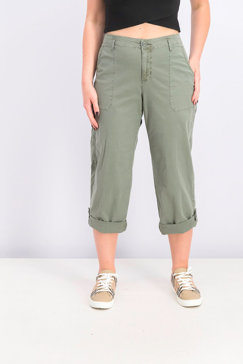Women's Cuffed Utility Pants, Green