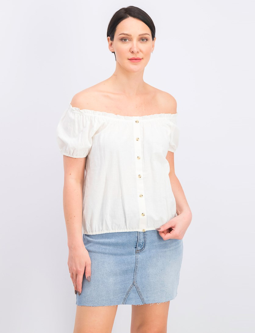 Women's Sunkissed Shoulder Skimmer Top, Off White