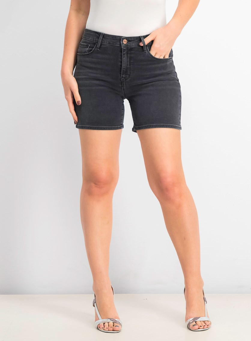 Women's Long Weekend Denim Shorts, Echo Black
