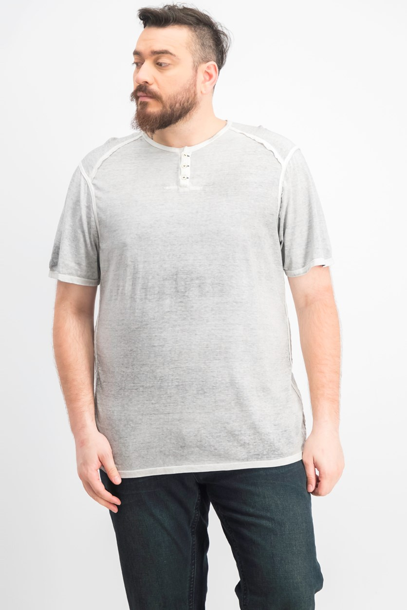 Men's Kurox Henley T-Shirt, Charcoal/Carbon
