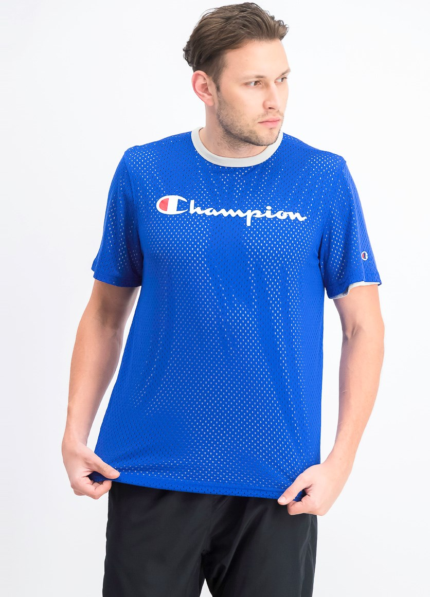 Men's Athletics Reversible Mesh Tee, Blue Combo