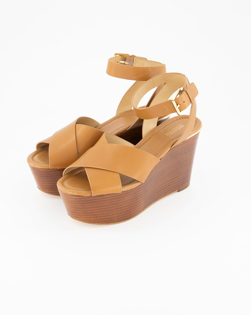 Abbott Platform Wedge Sandal, Brown