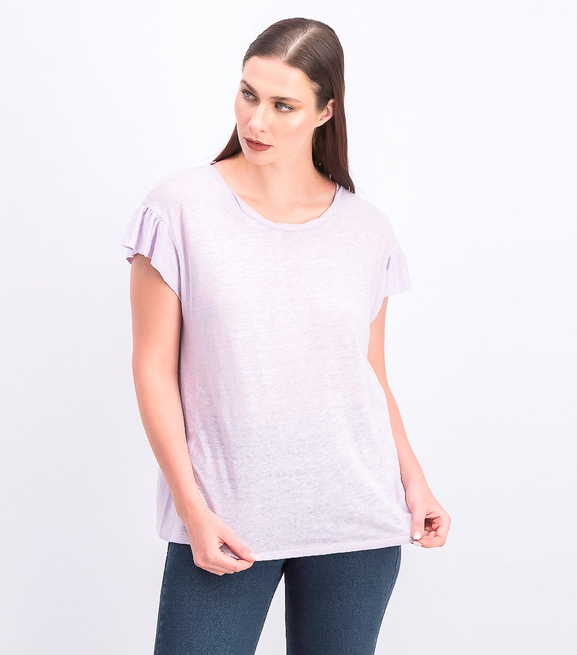 Women's Pullover Heather Tops, Pale Orchid