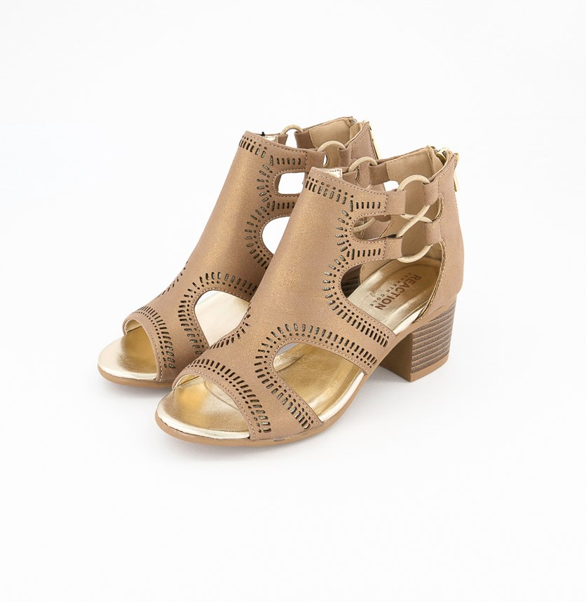 Big Girls Leveled Janice Sandals, Taupe Shimmer