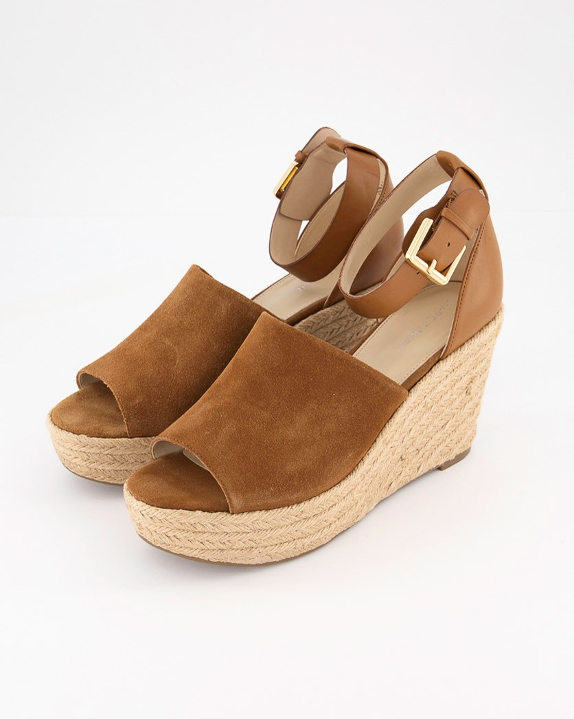 Women's Cala Ankle Strap Wedge, Natural Suede