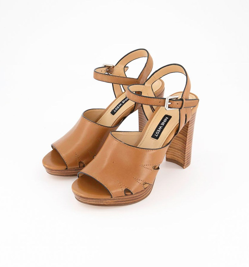 Delilah Open Toe Sandals, Dark Natural