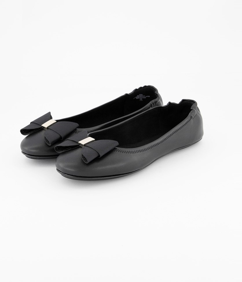 Women's Faudoa Bow Flat, Black