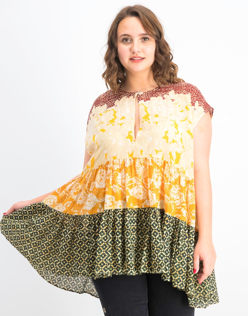 Women's Gotta Have You Tunic Blouse, Marigold Combo