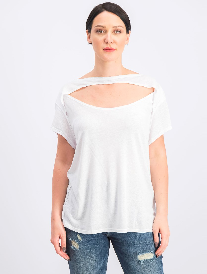 Women's June Cutout T-Shirt, White