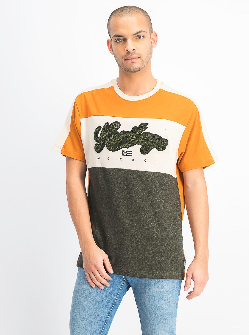 Men's Short Sleeve Chenille Tee, Marled Olive