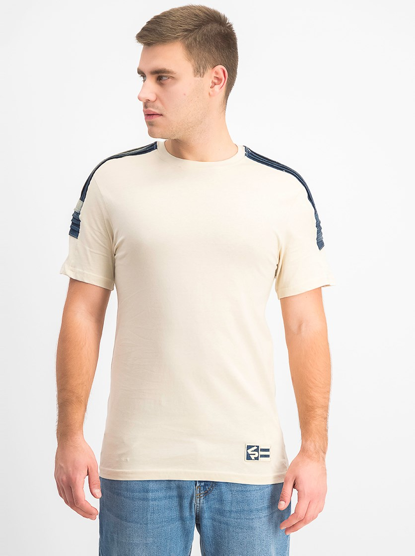 Men's Short Sleeve Chenille Tee, Bone