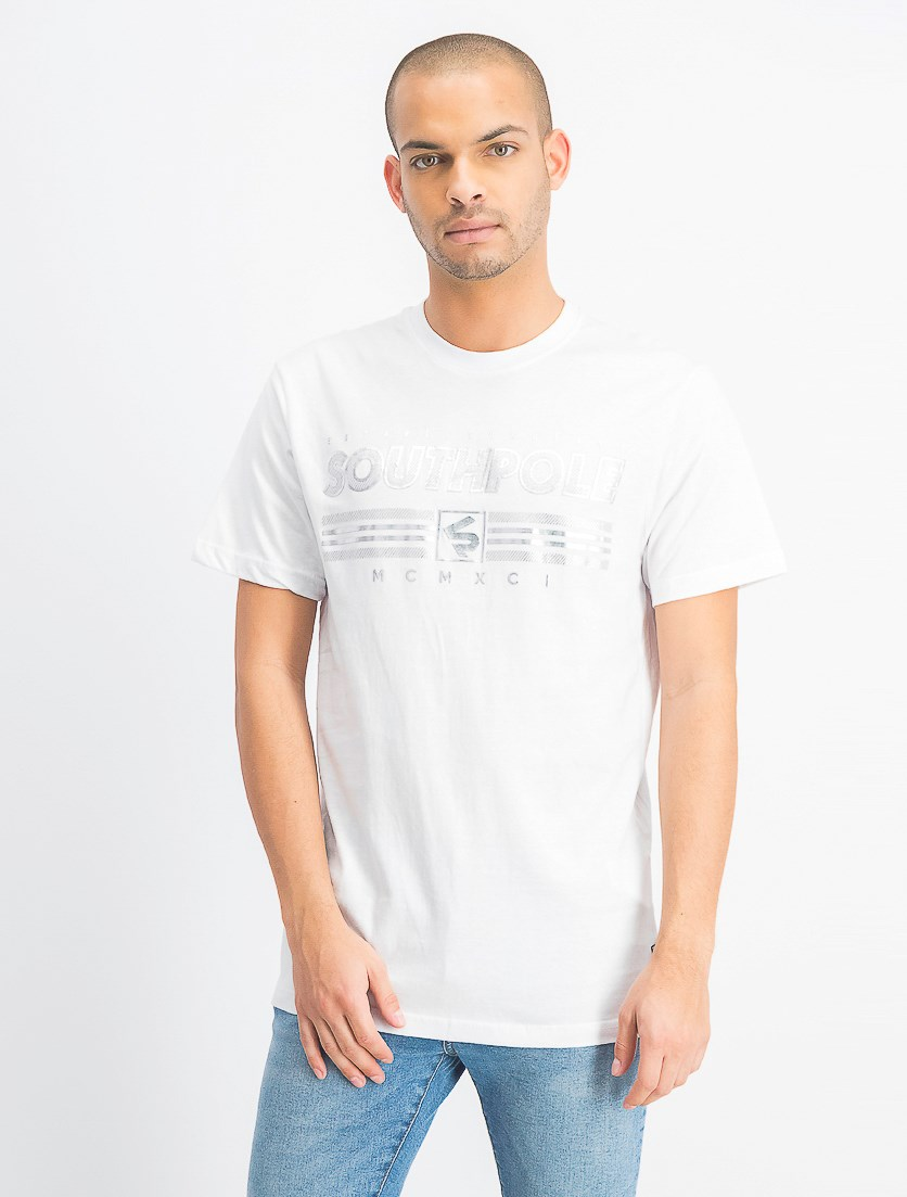 Men's Short Sleeve Graphic T-Shirt, White