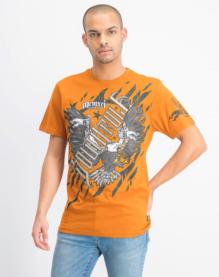 Men's Short Sleeve Graphic T-Shirt, Rust