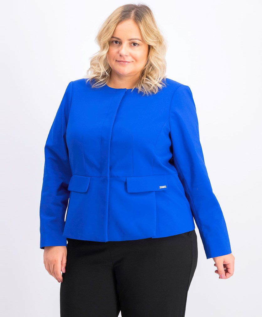 Women's Plus Four-Button Blazer, Blue