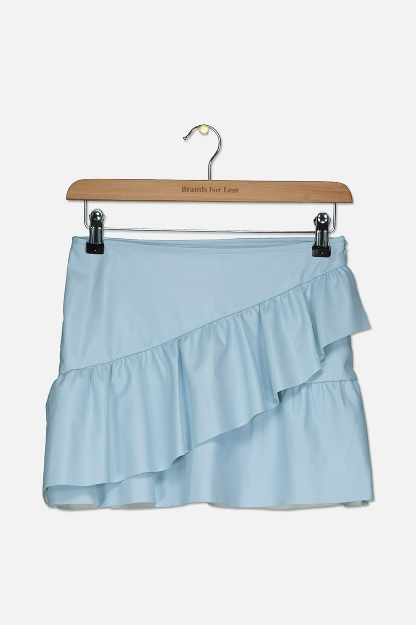 Kids Girl's Layered Skirt, Blue