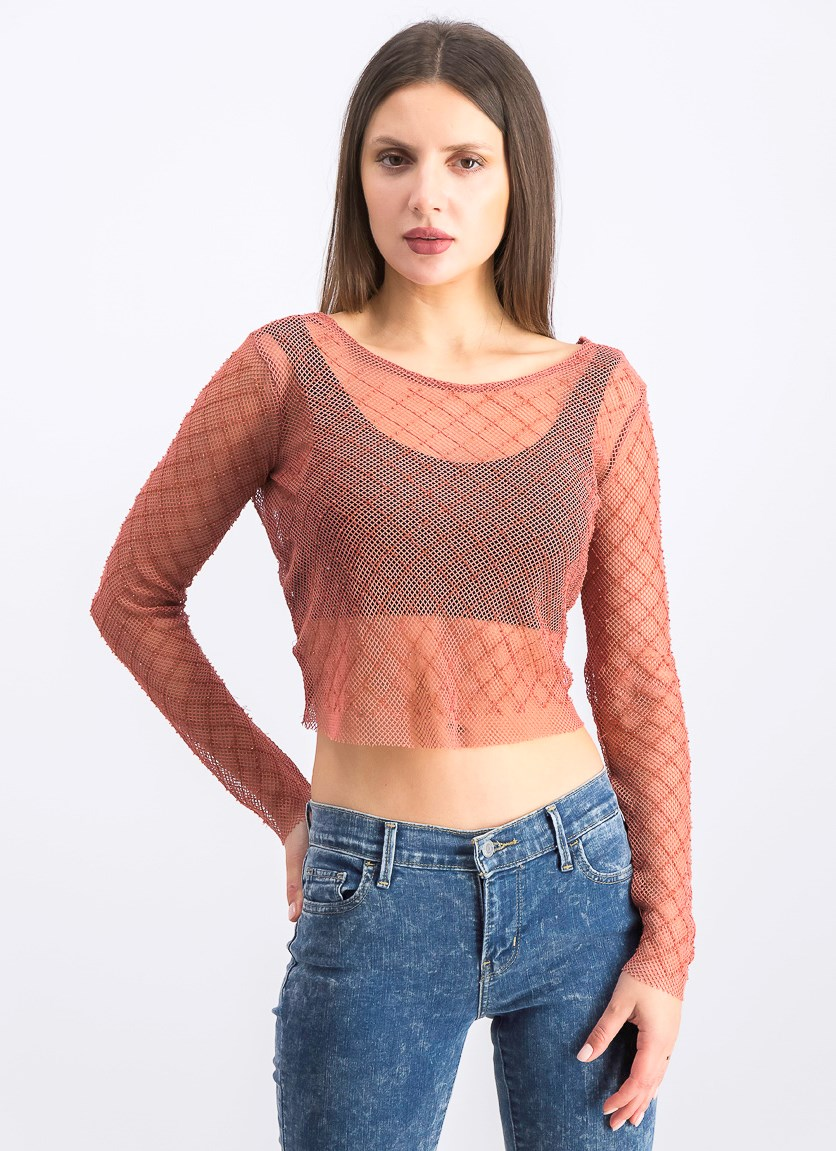 Women's Mesh T-shirt, Blush