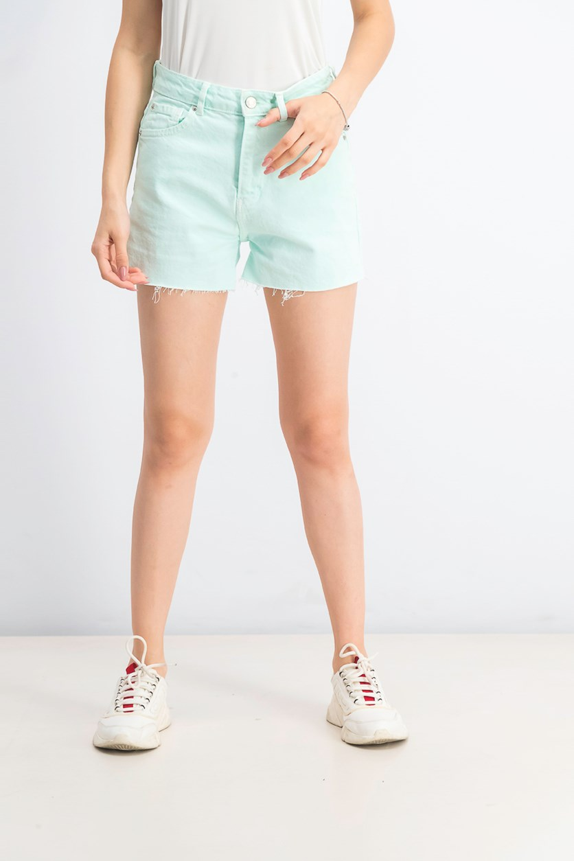 Women's Denim Short, Mint Green