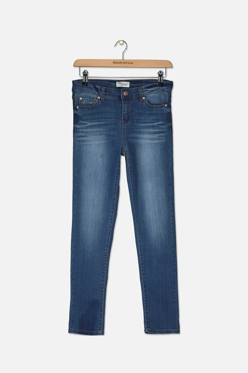 Girl's Wash Jeans, Blue