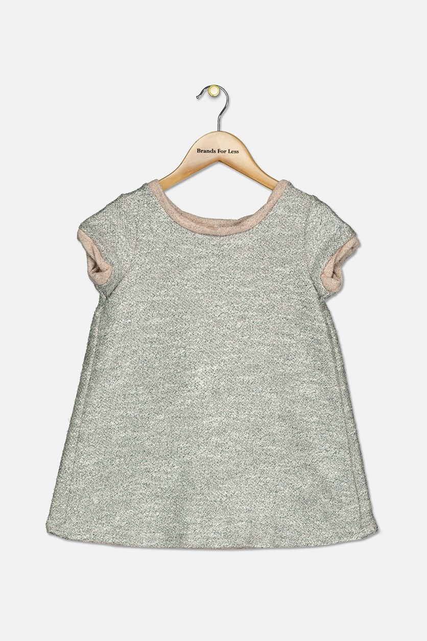 Toddler Girls' Metallic Shift Dress, Pale Dogwood