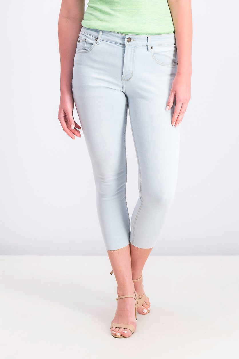 Women's Plain Super Skinny Jeans, Light Blue