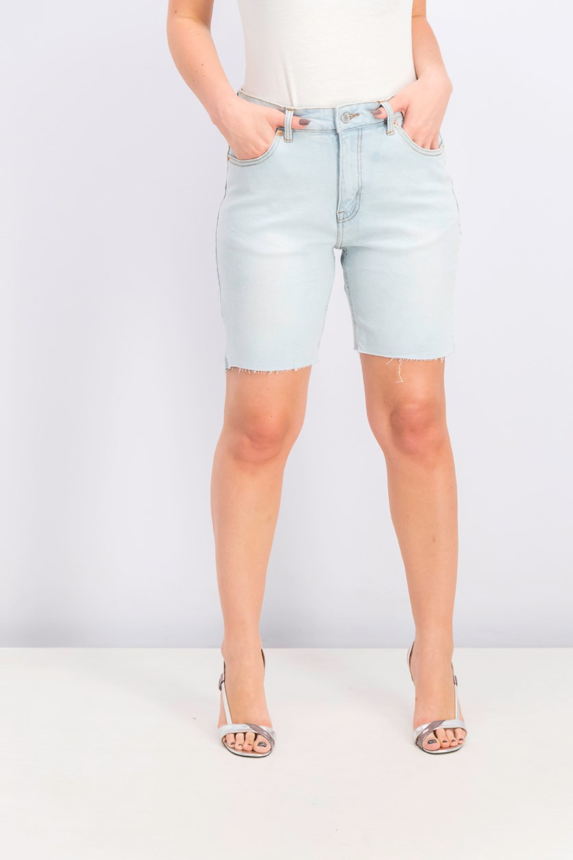 Womens Slim Comfort Short, Wash Blue