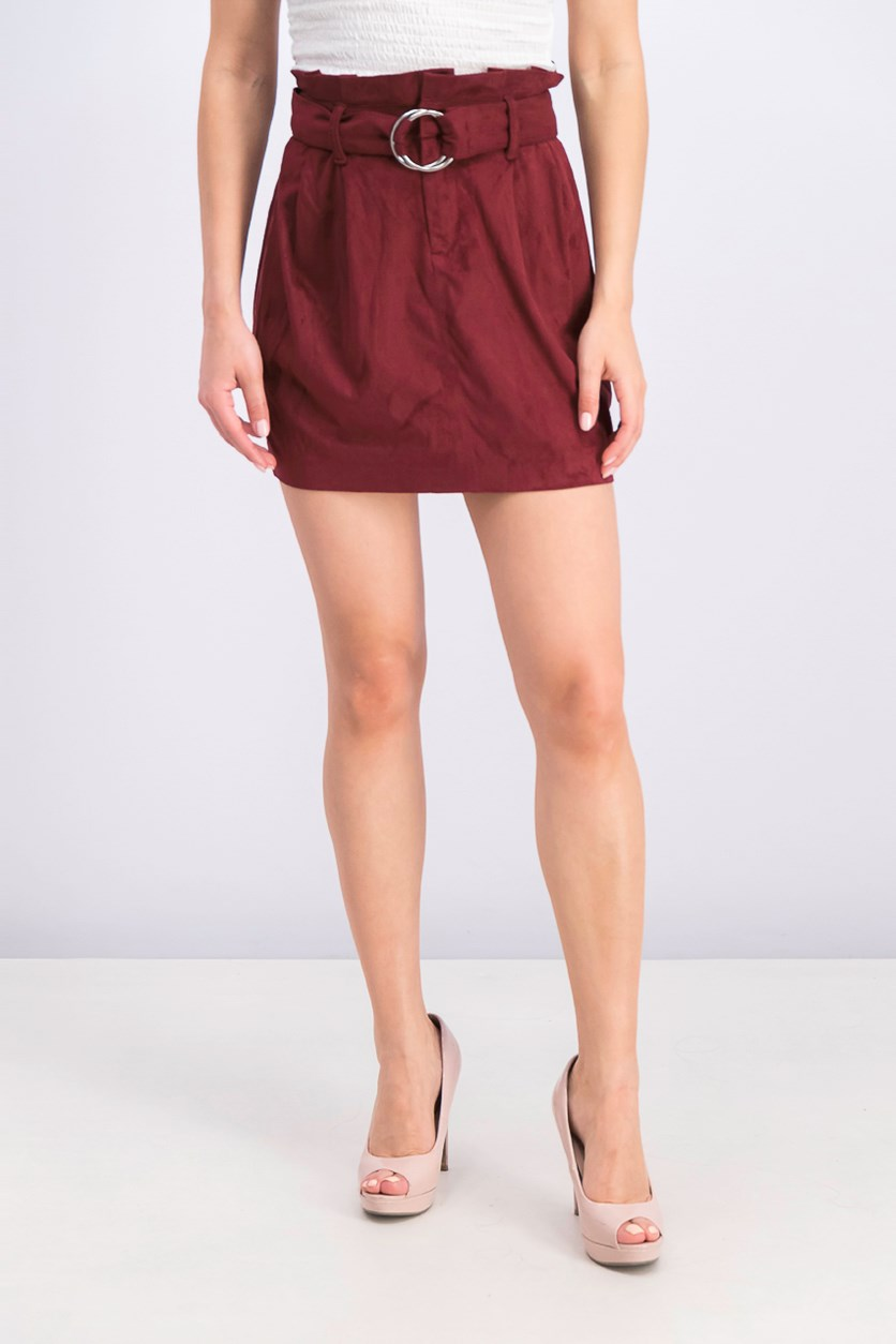 Women's Velvet Skirt, Maroon