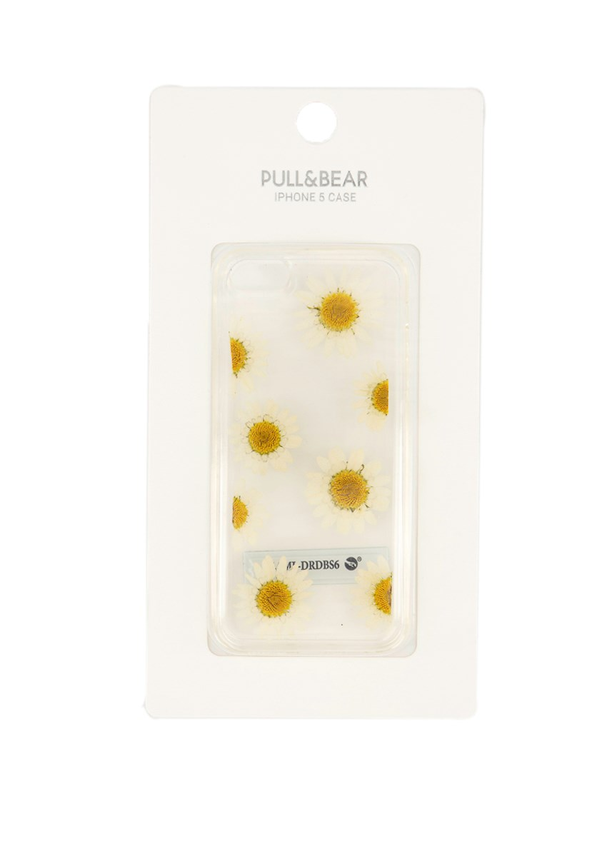 Iphone 5 Case with Sunflower Print, Transparent