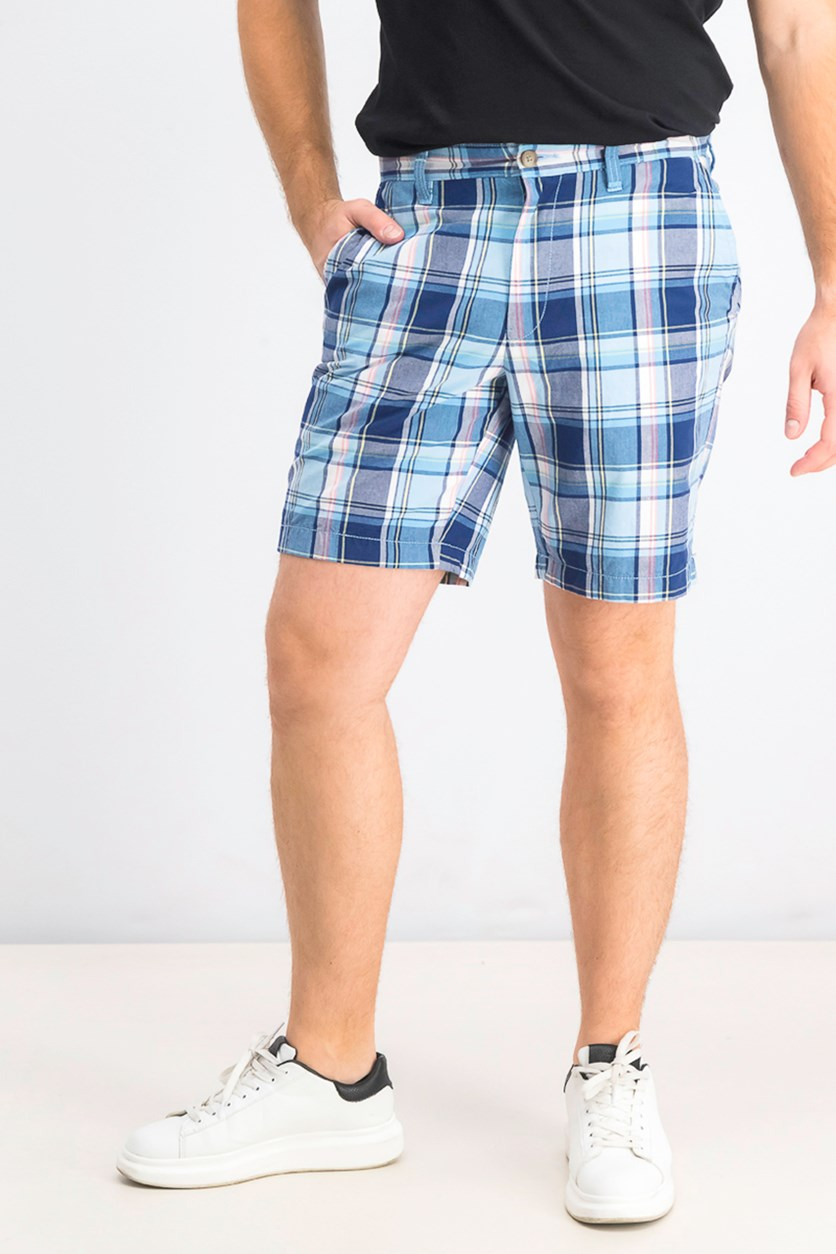 Men's Blue Sail Classic-Fit Plaid 8-1/2 Shorts, Alaskan Blue