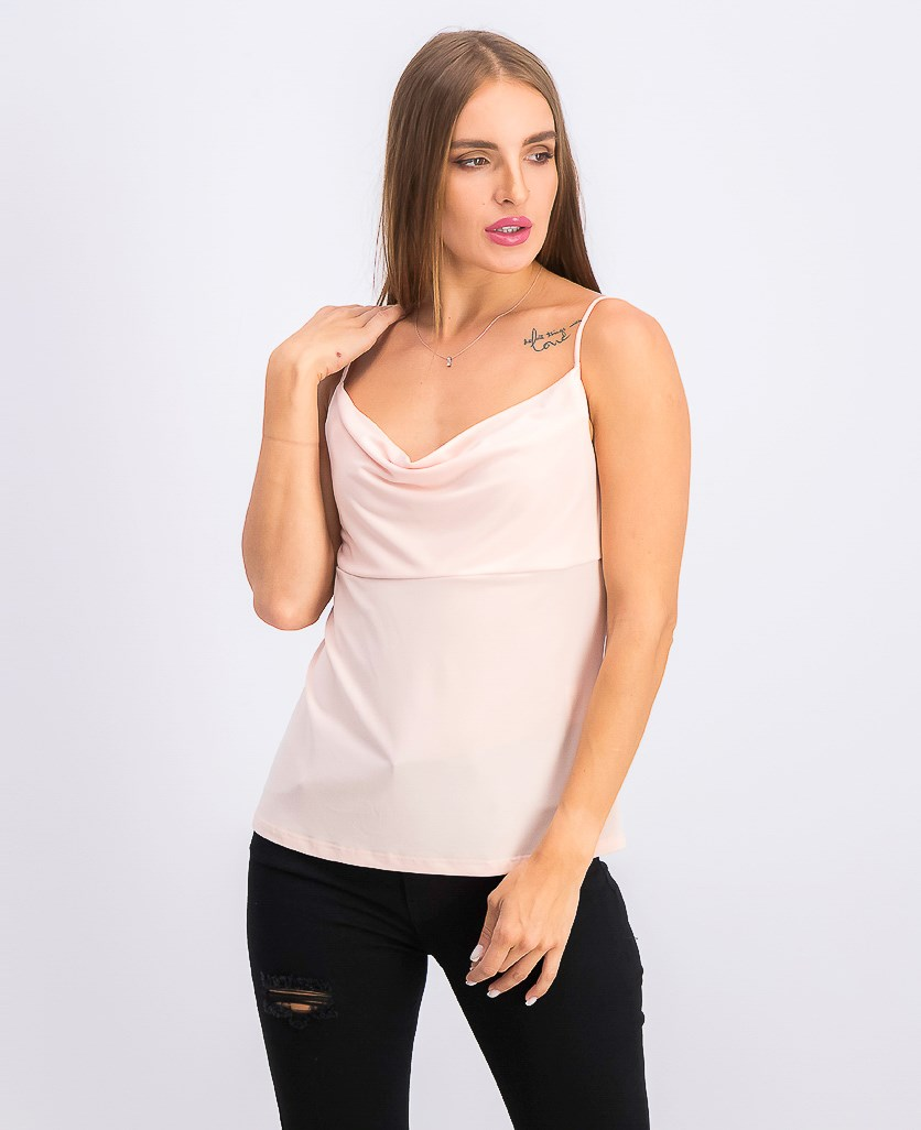 Women's Cowl-Neck Camisole, Rose Pink