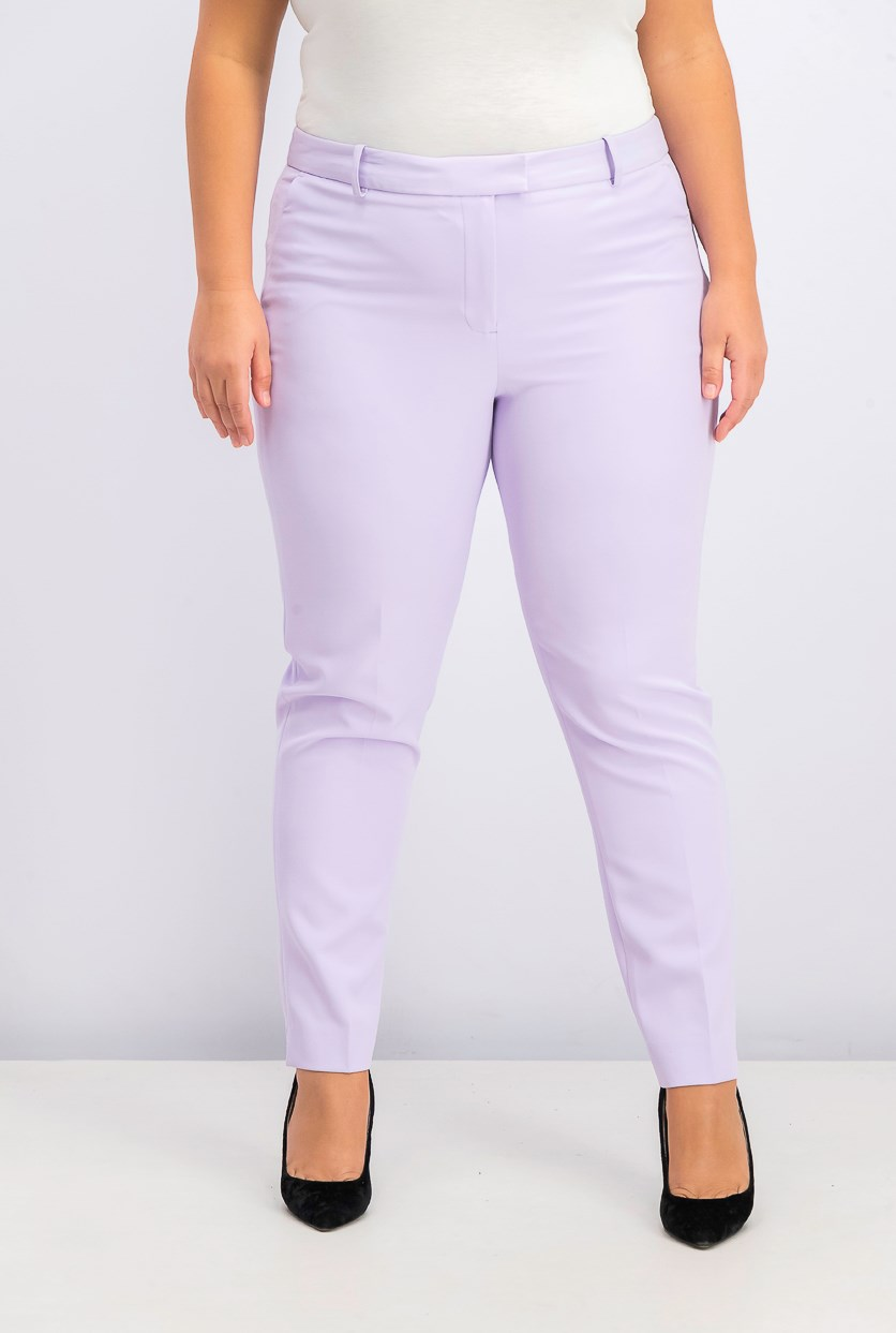Women's Two Pocket Slim Pants, Lavender