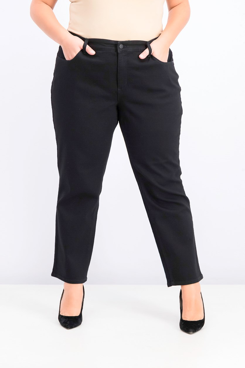 Womens Straight Leg Jeans, Black