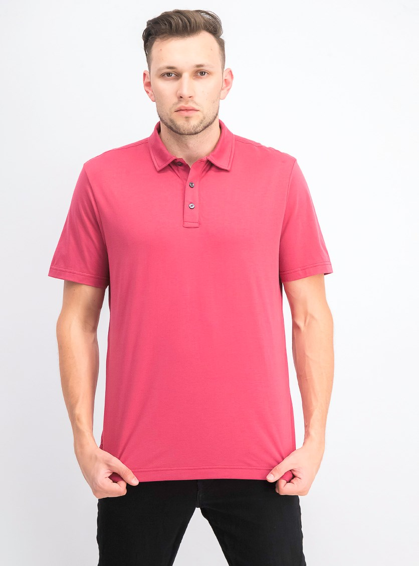 Men's Pullover Polo Shirt, Chinaberry
