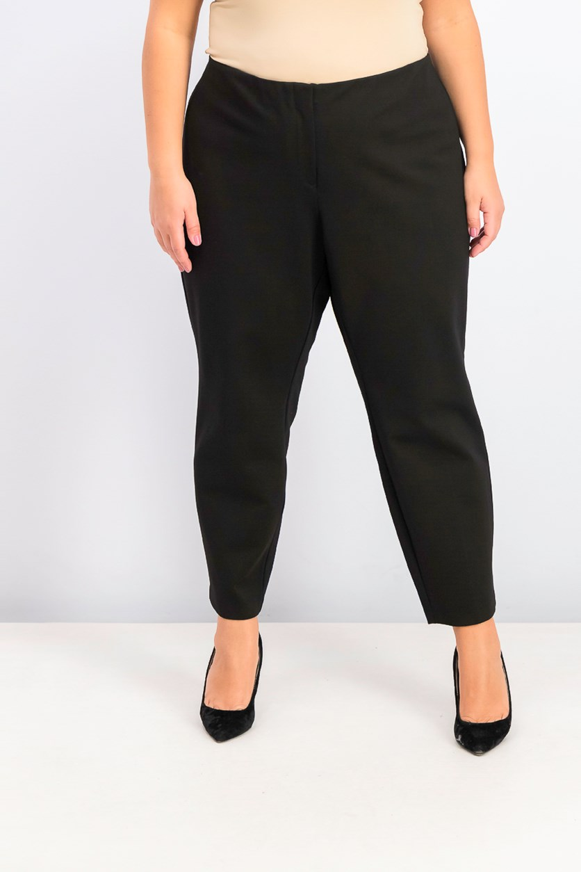 Women's Plus Size Hollywood Skinny Pants, Black