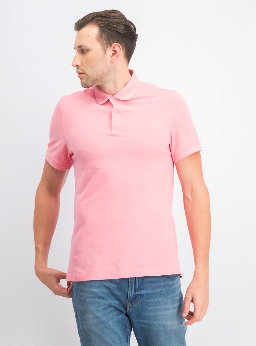 Mens Performance Polo, Pink Sky