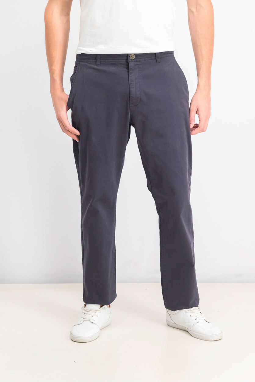 Men's Stretch Twill Pants, Navy