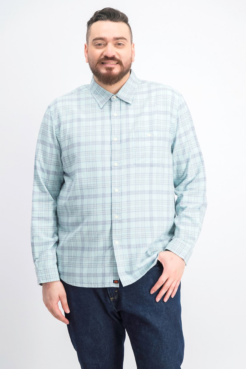 Men's Button Down Dress Shirt, Blue Haze