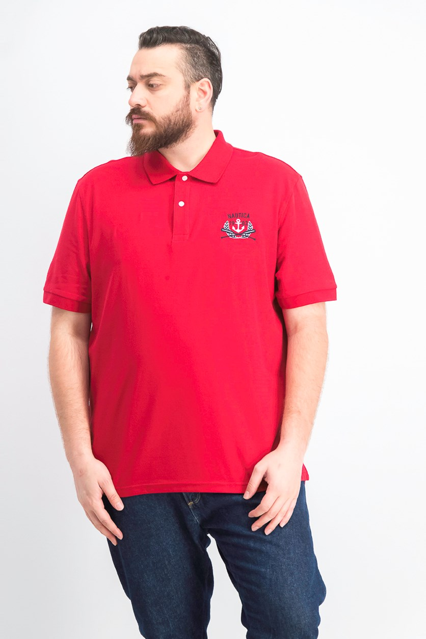Men's Classic-Fit -Embroidered Logo Polo, Red