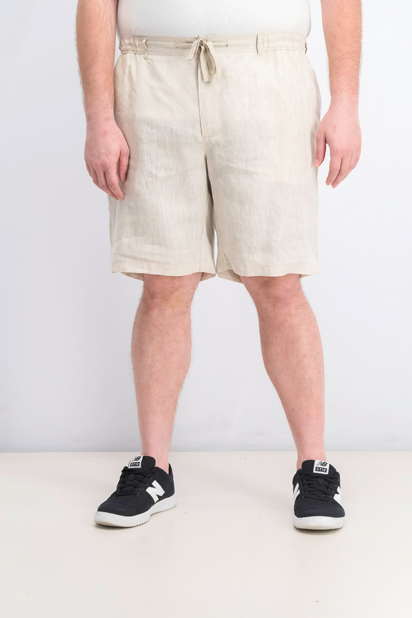 Men's Drawstring Shorts, Natural Khaki