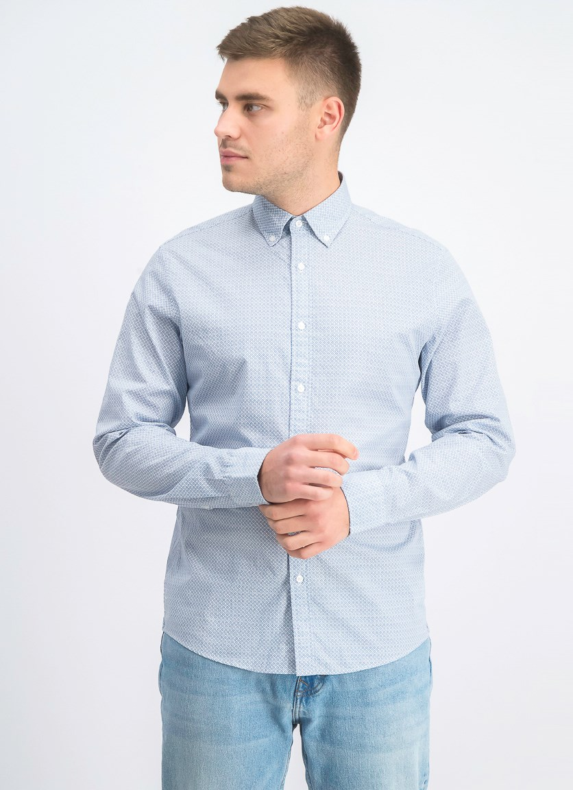 Men's Textured Silk Blend Shirt, Ether