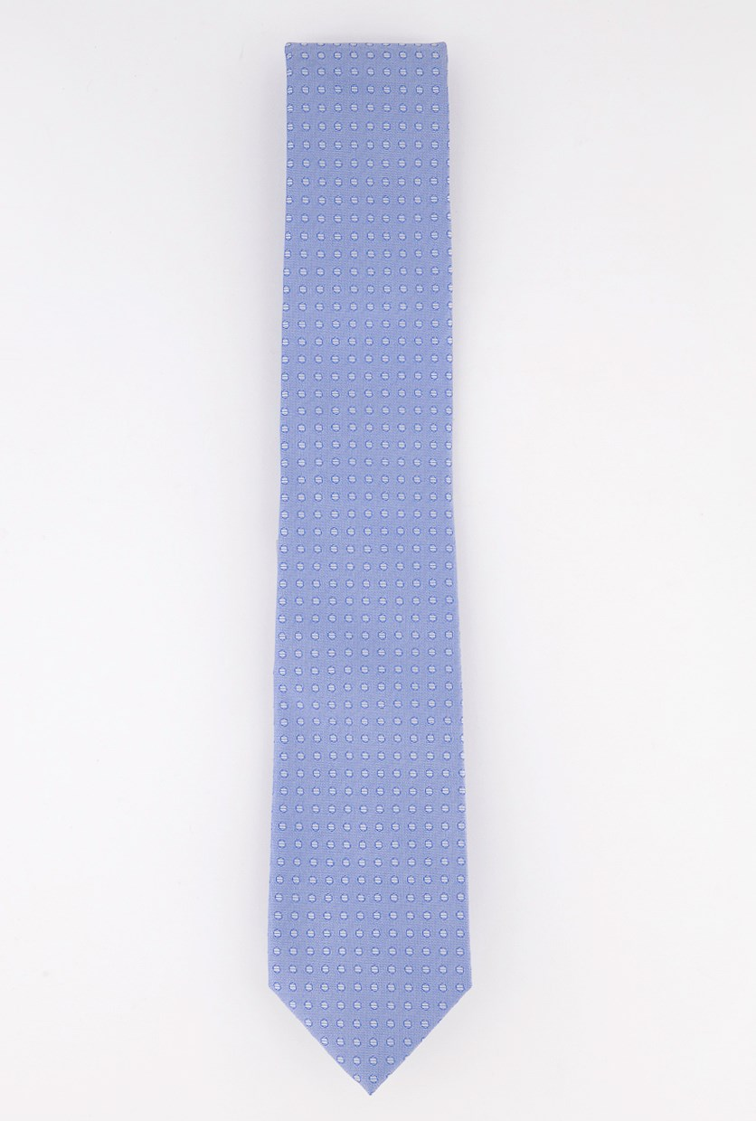 Men's Herringbone Dot Neck Tie, Blue