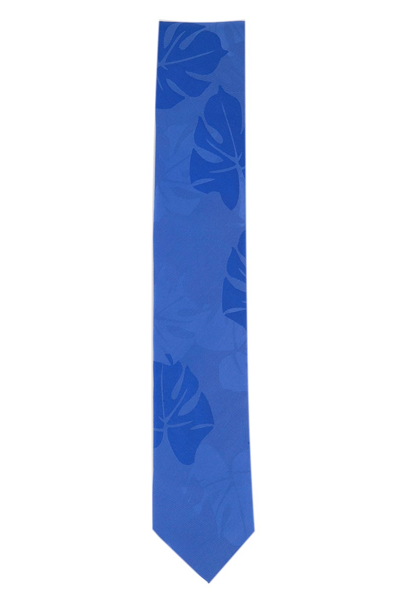 Men's Leaf Print Ties, Blue