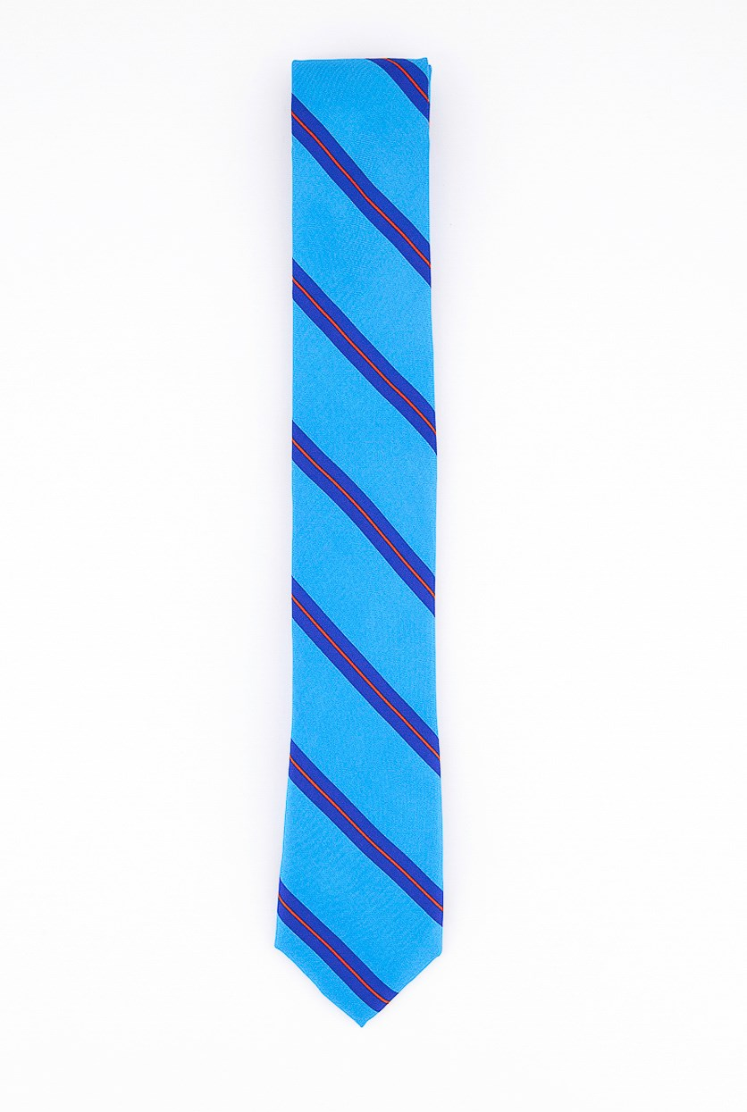Men's Stripe Neck Tie, Blue