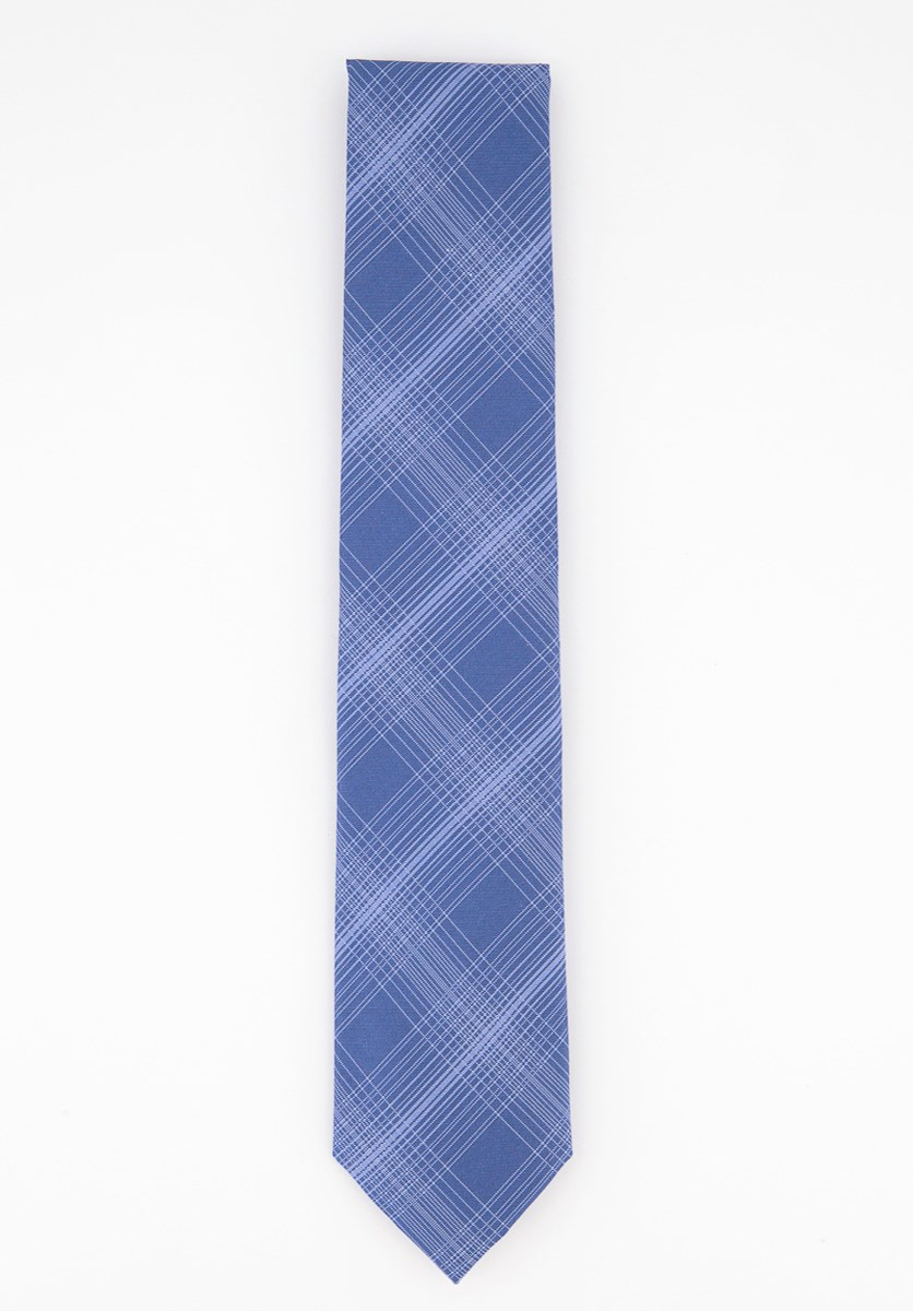 Men's Tyler Classic Plaid Tie, Blue