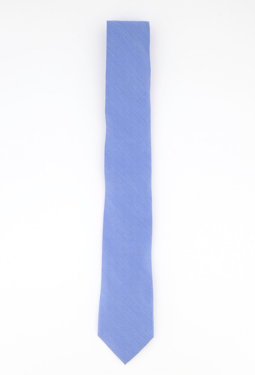 Men's Slim Solid Silk Tie, Royal