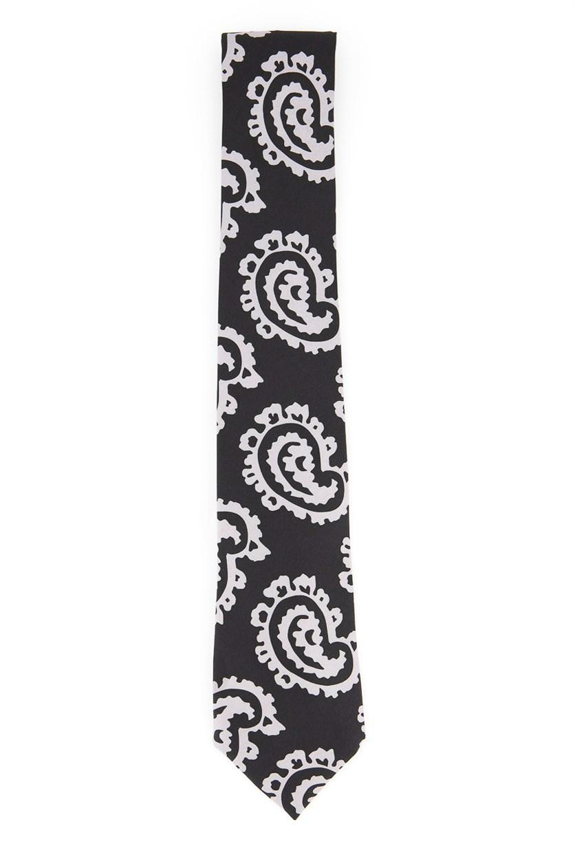 Men's Printed Neck Tie, Black
